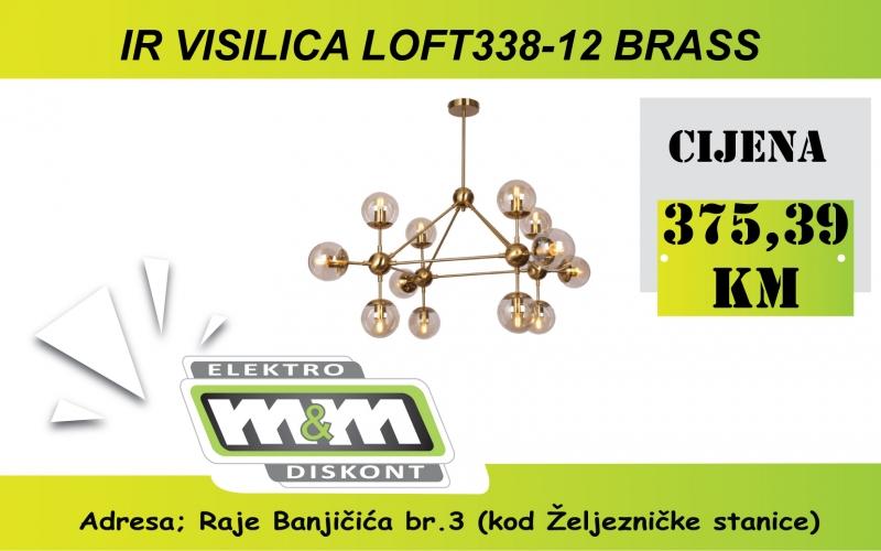 IR LUSTER LOFT338-12 BRASS