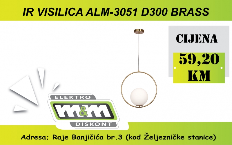IR VISLICA ALM-3051 D300 BRASS