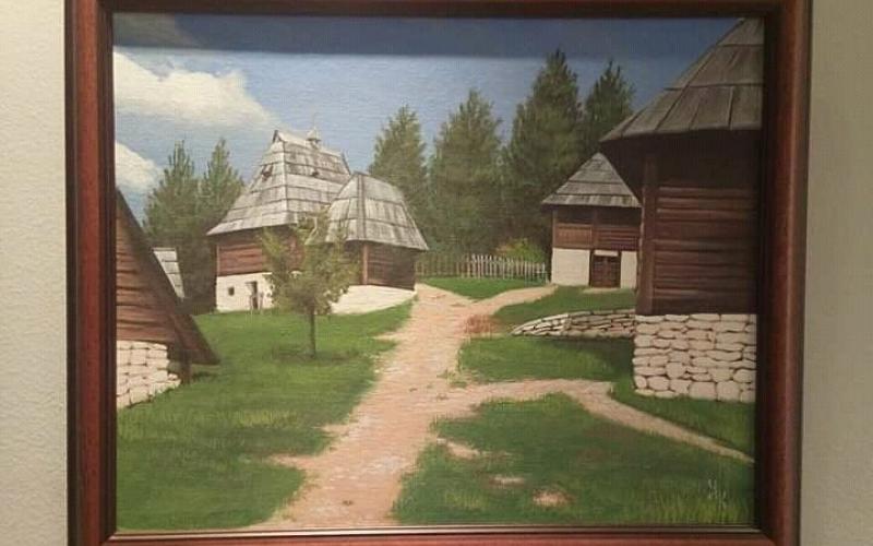 "Pejzaz ""Zatiborsko selo"", akademski slikar"