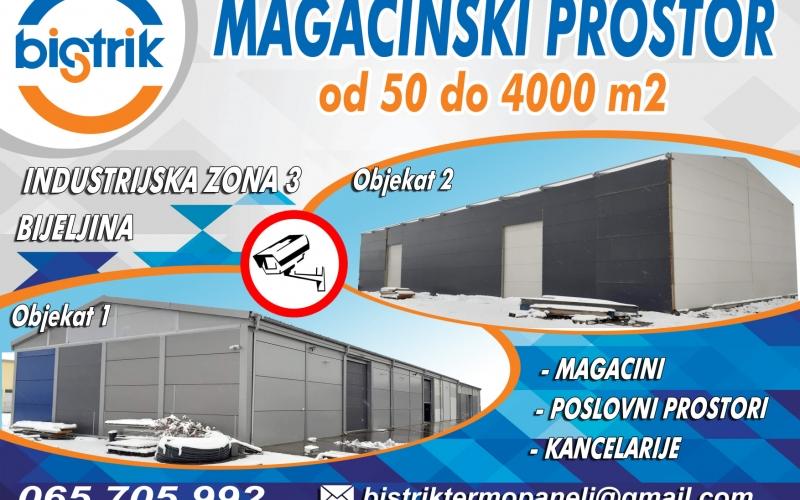Magacinski prostor na izdavanje (od 50 do 4000m2)