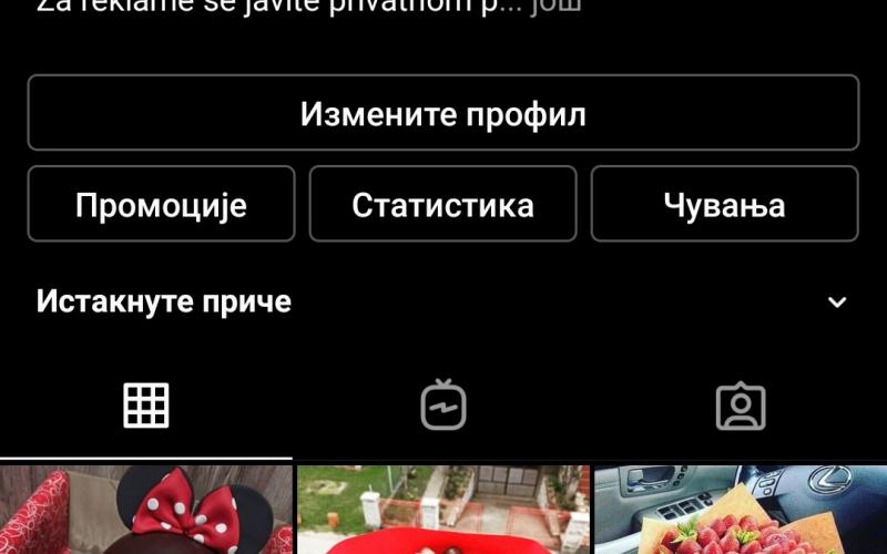 Prodajem instagram nalog sa nekih 12000 domacih pratilaca