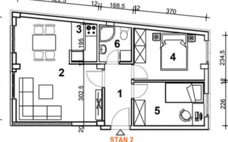 Prodajem dvoiposoban stan u Novom Sadu 48m2