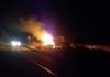 Udes u Gornjoj Čađavici, automobil se zapalio nakon slijetanja s puta