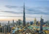 Simboli Dubaija - jedro, palma, toranj i marina