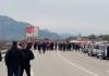 Pristalice Mila Đukanovića ponovo blokirale put Podgorica - Nikšić