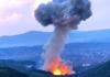 """Snažna eksplozija u Čačku, dim iznad fabrike """"Sloboda"""""""