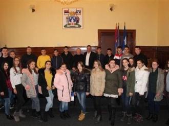 Prijem za folkloraše iz Kosovske Kamenice
