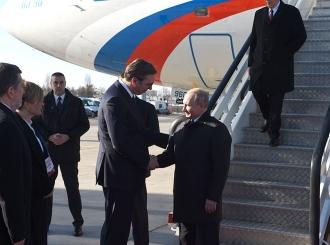 Ruskog predsjednika dočekao Vučić