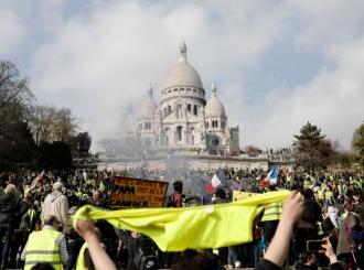 Povremeni sukobi na protestu Žutih prsluka