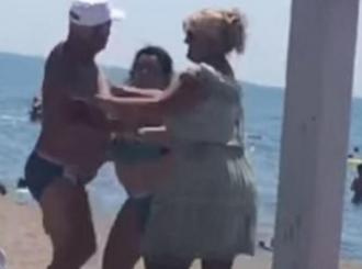 BRAČNI PAR U ŽARU BORBE Muškarac i žena se potukli na plaži VIDEO