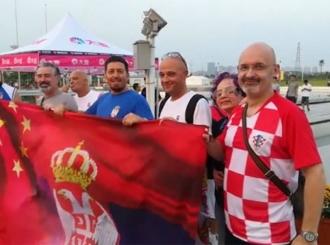 U hrvatskom dresu navijao za Srbiju protiv Amerike