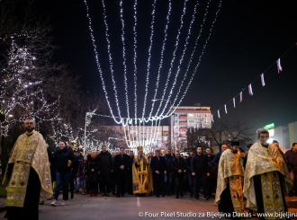 FOTO Badnje veče u Bijeljini: Radost Božića prenijeti u cijeli narod