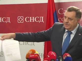 VIDEO Dodik: Potpisan koalicioni ugovor sa Mićićem