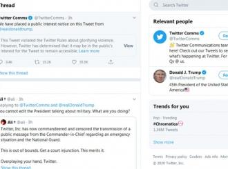Rat na društvenim mrežama: Tramp protiv Tvitera