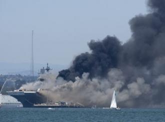 Požar na vojnom brodu, više mornara povrijeđeno
