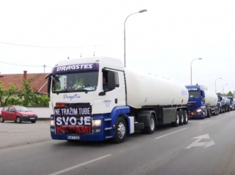 Nova protestna vožnja: Benzinska pumpa Dragstes i dalje radi na agregat