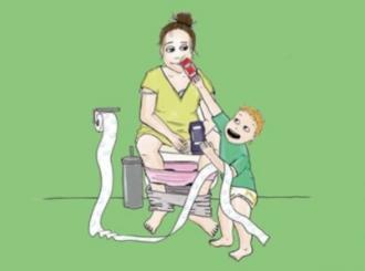 """Nedepilirana, masne kose, krvavog pogleda... Jedna """"mama"""" ilustrovala svakodnevne trenutke roditeljstva"""