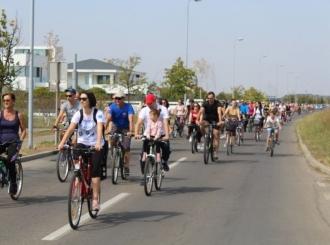 SVI NA BICIKLE: U Bijeljini obilježena Evropska sedmica urbane mobilnosti FOTO