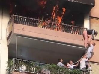 VIDEO Drama u Beogradu: Radnici heroji spasili djevojčicu iz požara