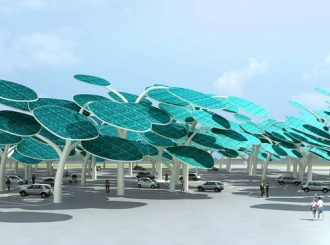 Neobičan parking: Solarna šuma