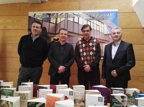 Predstavnici Visoke škole modernog biznisa poklonili knjige biblioteci u Bijeljini