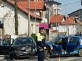 Teška saobraćajna nesreća u Majvičkoj: Povrijeđen muškarac i dva djeteta