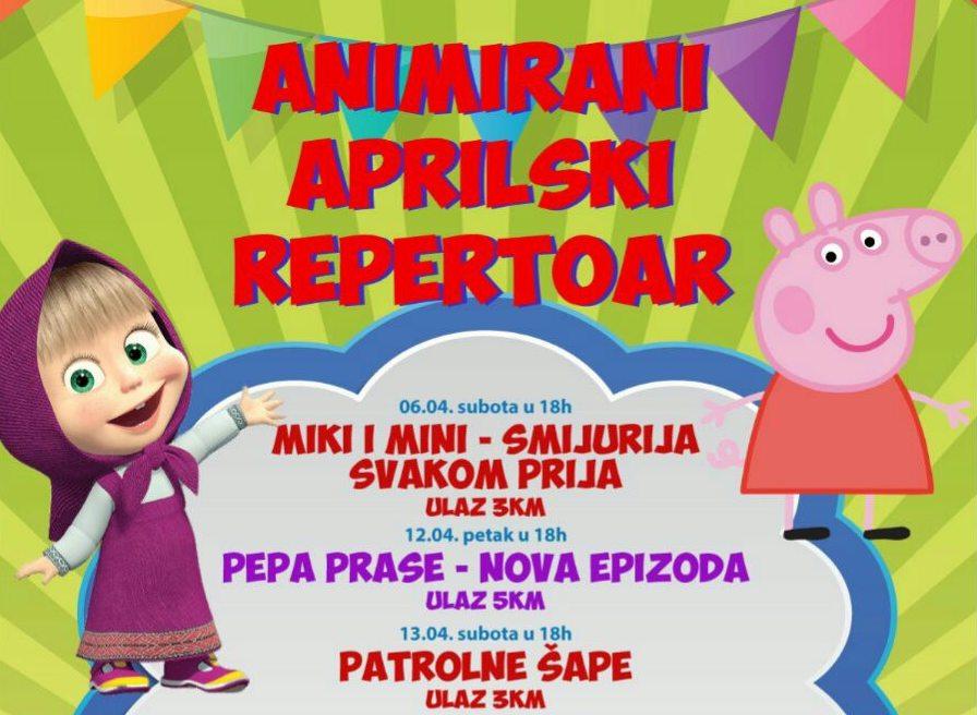 Aprilski repertoar pozorištanca Maslačak