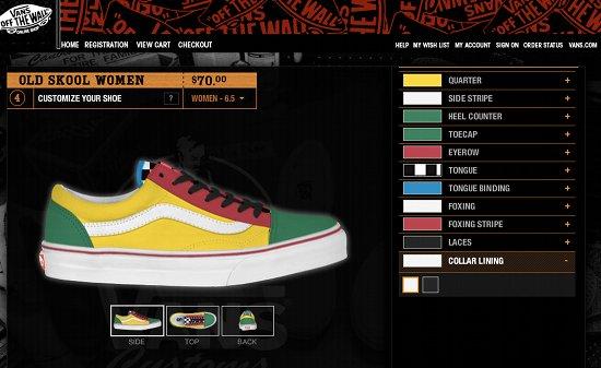vans create your own shoe