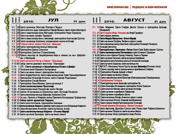 Kalendar Lista događaja Dodaj događaj
