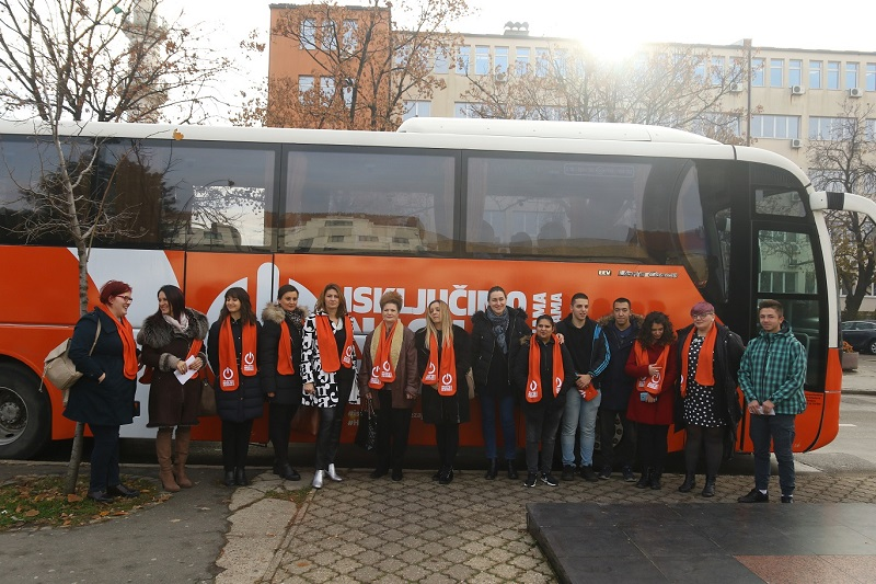 FOTO Narandžasti UN Women autobus u Bijeljini: Dva dana besplatne vožnje i edukacije
